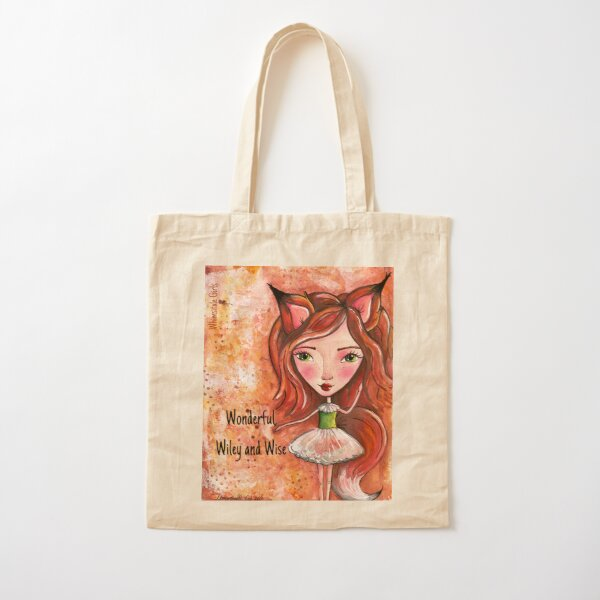 Wiley Fox - Whimsitale Girl Cotton Tote Bag