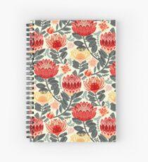 Protea Chintz - Grey & Red Spiral Notebook
