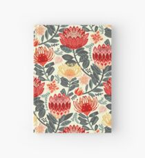 Protea Chintz - Grey & Red Hardcover Journal