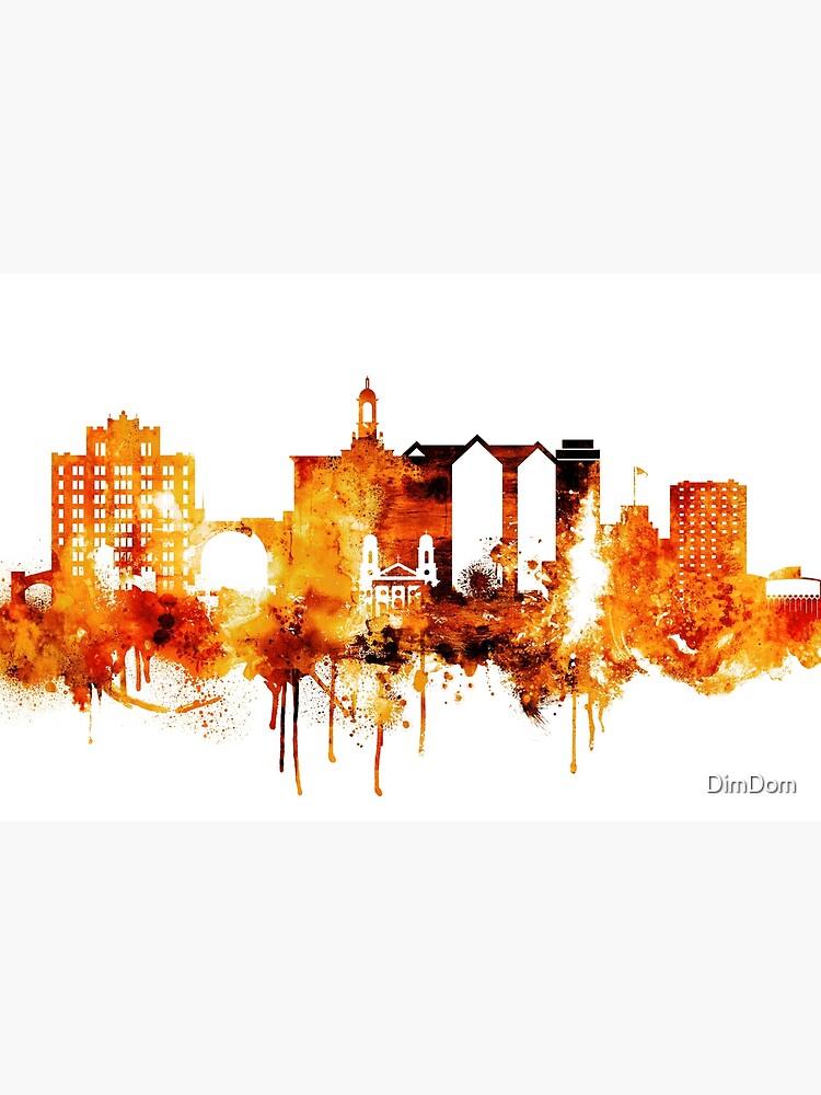 San Jose California Red Yellow Skyline by DimDom