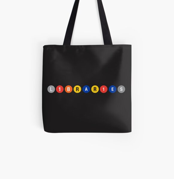 All Aboard the Library Train! All Over Print Tote Bag