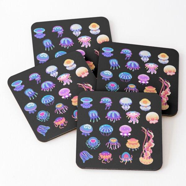 Jellyfish Day Coasters (Set of 4)