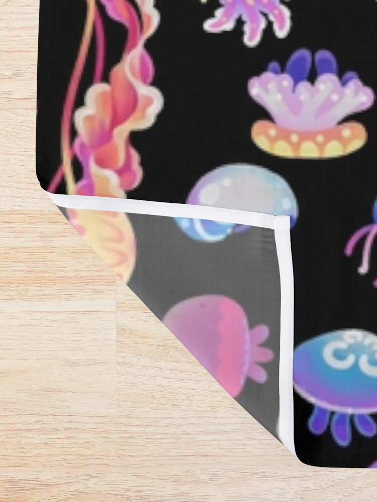 Alternate view of Jellyfish Day Shower Curtain