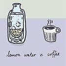 Lemon water vs. coffee by johanneVN