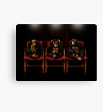 The Three Wise Monkeys Canvas Print