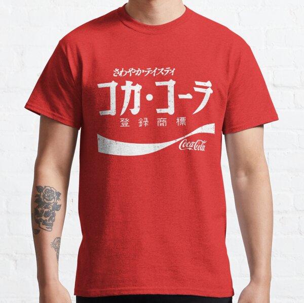 Chemise publicitaire Vintage Coke japonais T-shirt classique