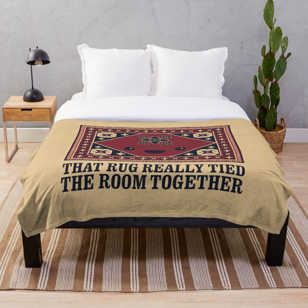 The Big Lebowski - Rug - That Rug Really Tied The Room Together Throw Blanket