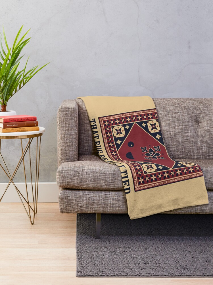 Alternate view of The Big Lebowski - Rug - That Rug Really Tied The Room Together Throw Blanket