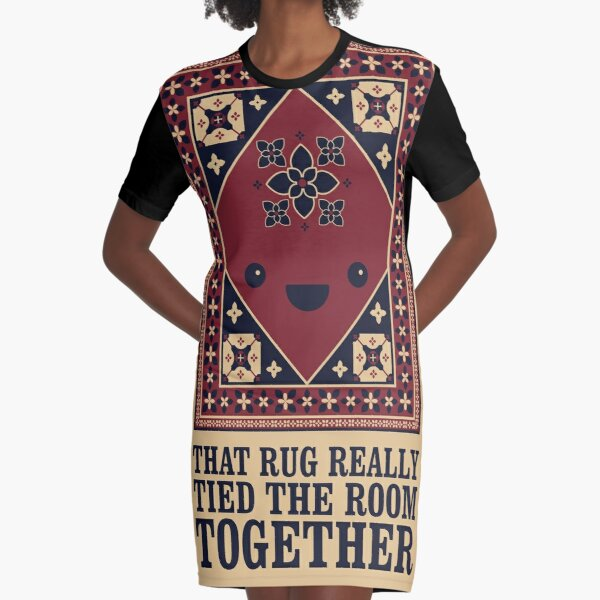 The Big Lebowski - Rug - That Rug Really Tied The Room Together Graphic T-Shirt Dress