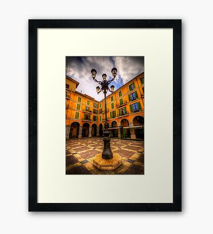 Spanish Street Lamp Framed Print