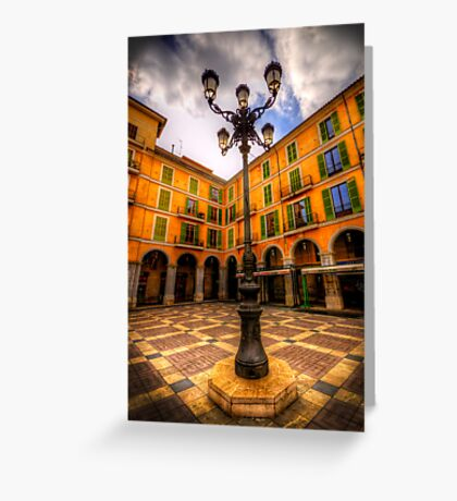 Spanish Street Lamp Greeting Card