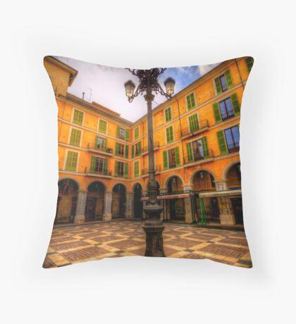 Spanish Street Lamp Throw Pillow
