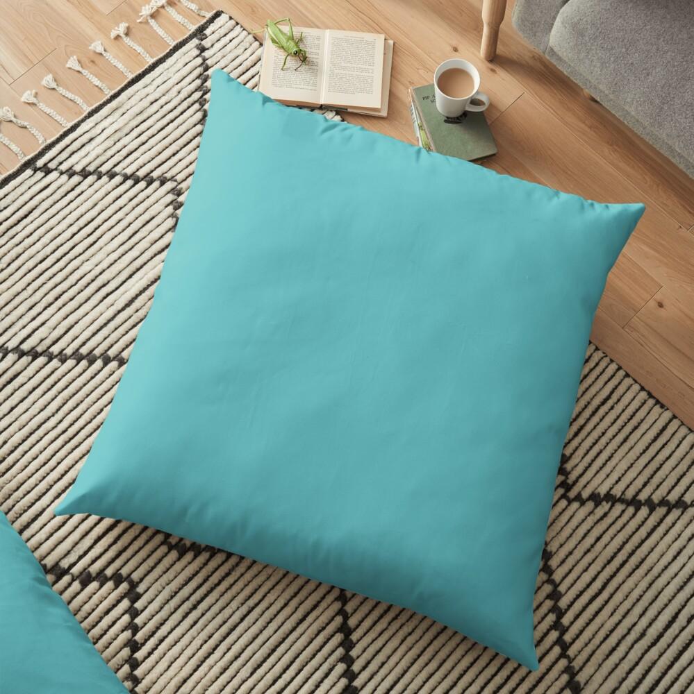 Turquoise. Floor Pillow