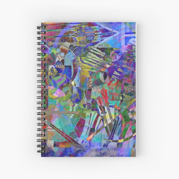 Indian inspired pattern Spiral Notebook