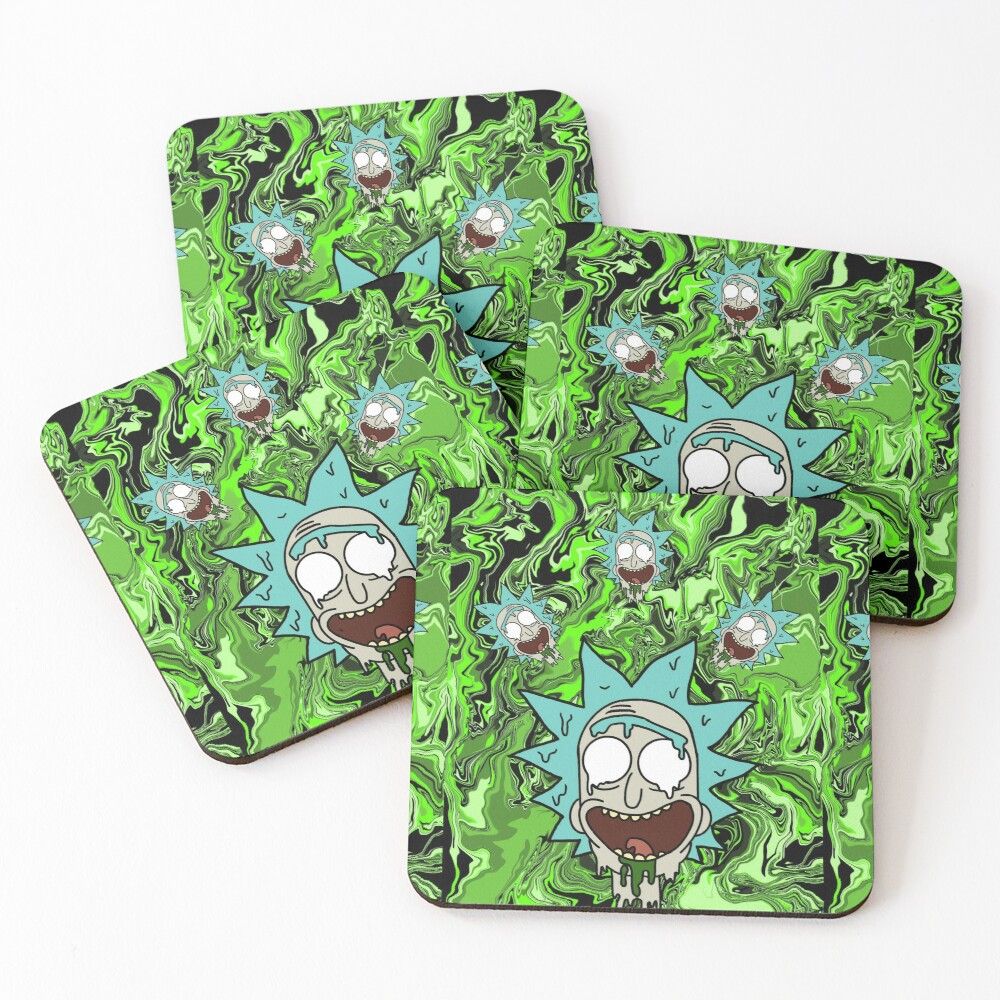 Trippy Rick Coasters (Set of 4)