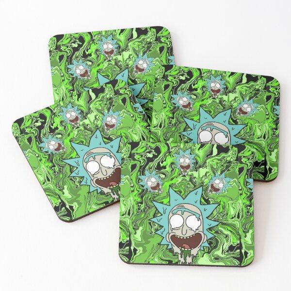 Trippy Rick Coasters (Set of 4)