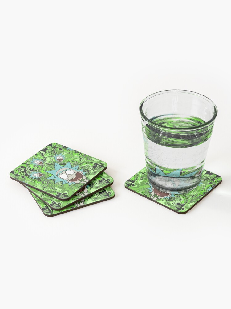Alternate view of Trippy Rick Coasters (Set of 4)