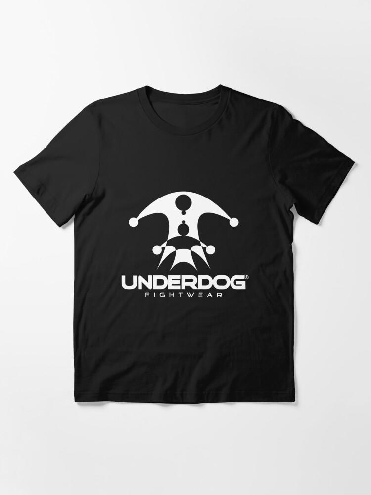Alternate view of UNDERDOG logo tee, dark Essential T-Shirt