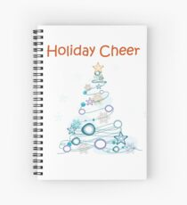 Holiday Cheer Christmas Tree Spiral Notebook