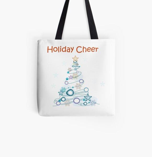 Holiday Cheer Christmas Tree All Over Print Tote Bag