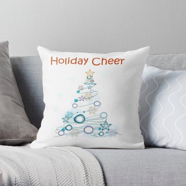 Holiday Cheer Christmas Tree Throw Pillow