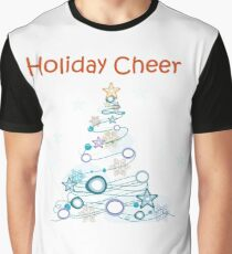 Holiday Cheer Christmas Tree Graphic T-Shirt