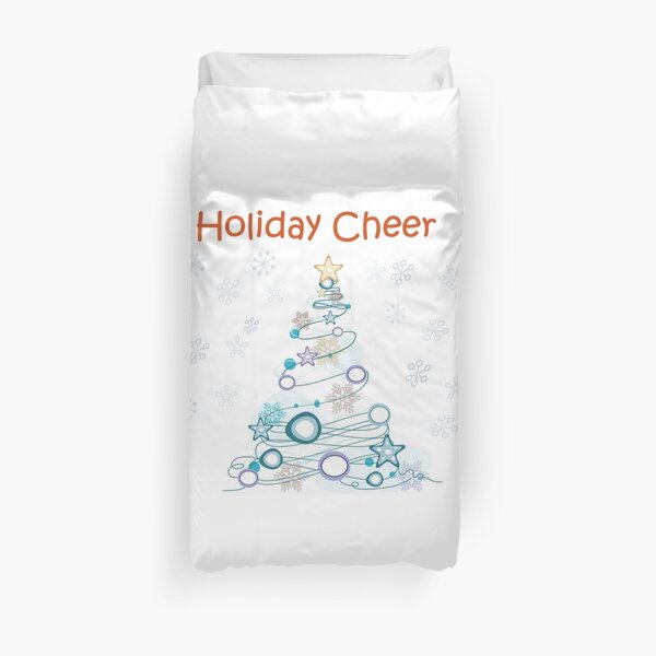 Holiday Cheer Christmas Tree Duvet Cover