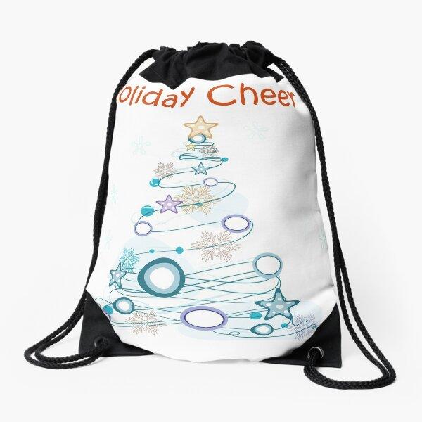 Holiday Cheer Christmas Tree Drawstring Bag