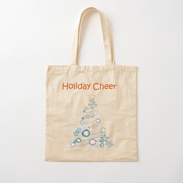 Holiday Cheer Christmas Tree Cotton Tote Bag