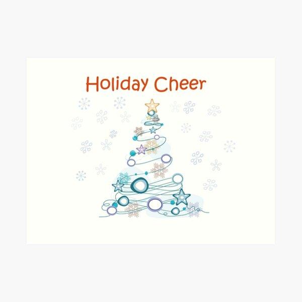 Holiday Cheer Christmas Tree Art Print