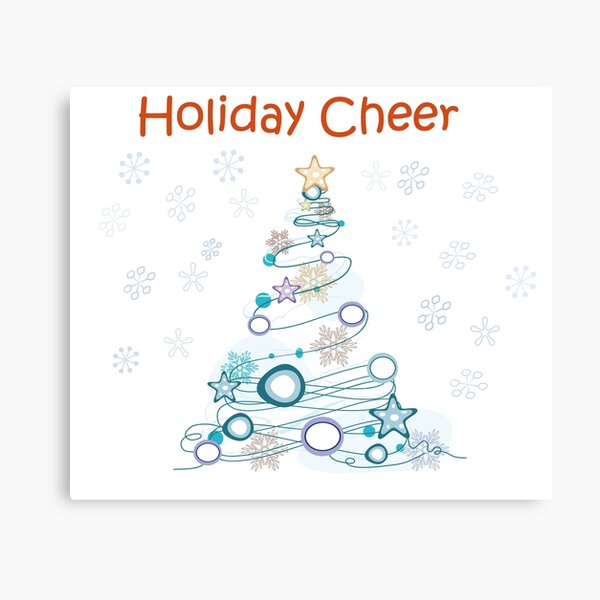 Holiday Cheer Christmas Tree Canvas Print