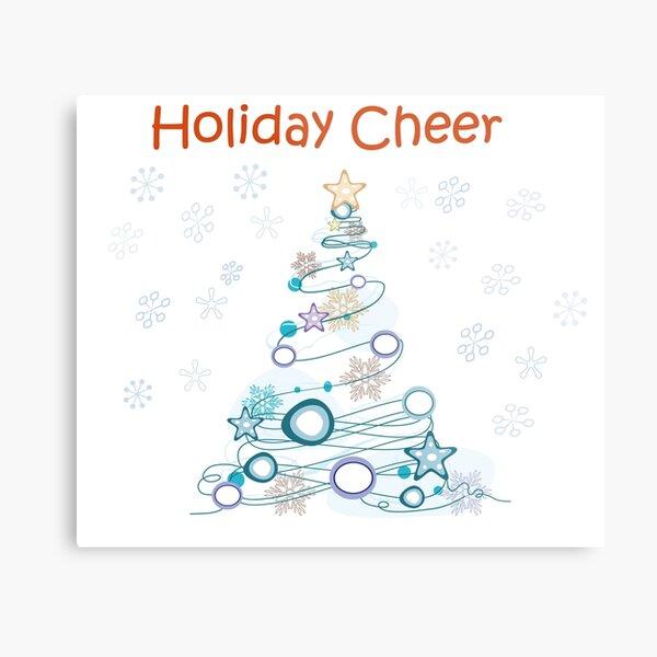 Holiday Cheer Christmas Tree Metal Print