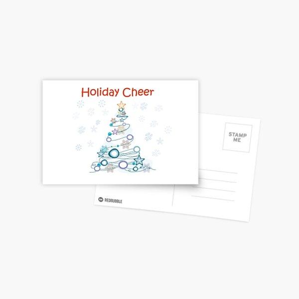 Holiday Cheer Christmas Tree Postcard