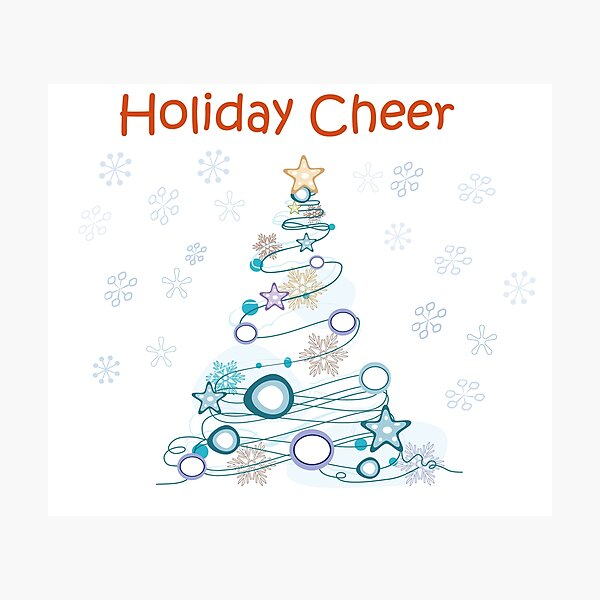 Holiday Cheer Christmas Tree Photographic Print