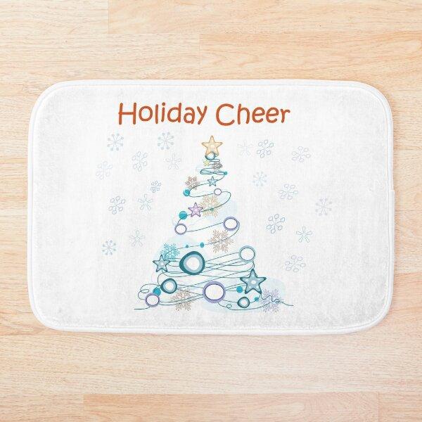 Holiday Cheer Christmas Tree Bath Mat