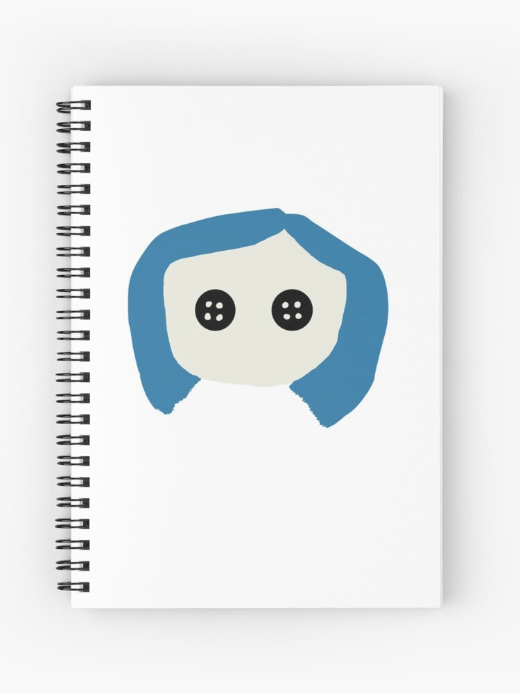 Coraline Sticker With Button Eyes Spiral Notebook By Megansisson Redbubble