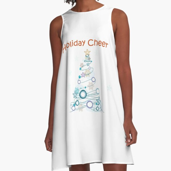 Holiday Cheer Christmas Tree A-Line Dress