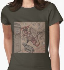 ComicCon Winged Merbunny Women's Fitted T-Shirt
