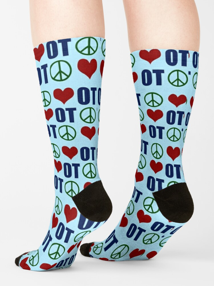 Alternate view of Peace Love Occupational Therapy Socks