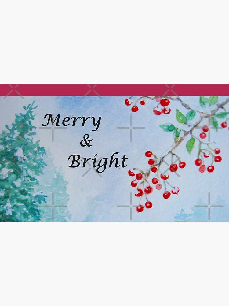 Merry & Bright - Snow on the Berries by LeisureLane1