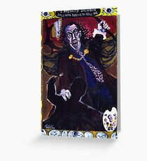 'I Dreamed Salvador Dali was trying to Kill Me' Greeting Card