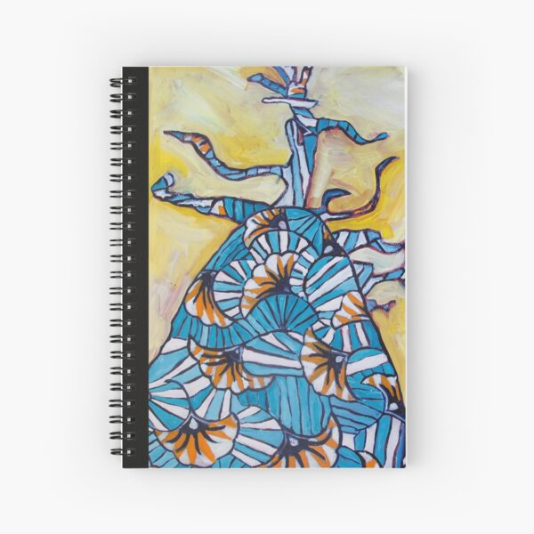 baobab wax image written Spiral Notebook