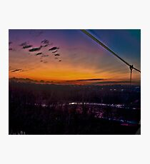 Sunset Riverbank Photographic Print
