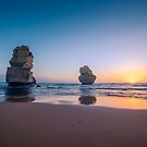 Apostles Sunset by Ray Warren