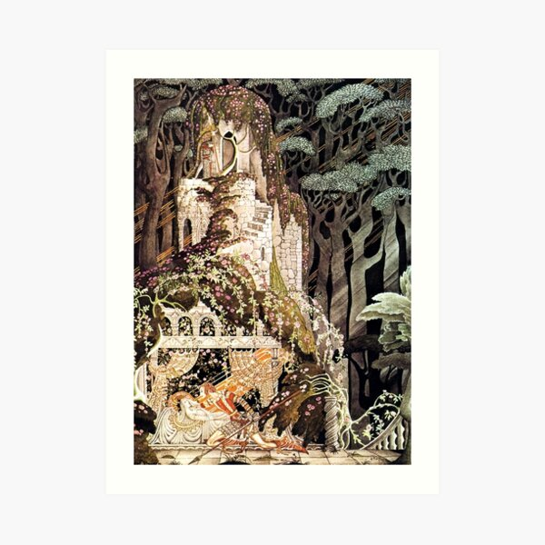 Rosebud - Sleeping Beauty - Kay Nielsen Art Print