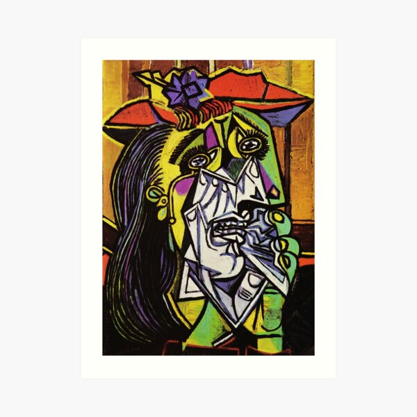 Pablo Picasso Original Fine Art The Weeping Woman Painting HD High Quality Online Store Art Print