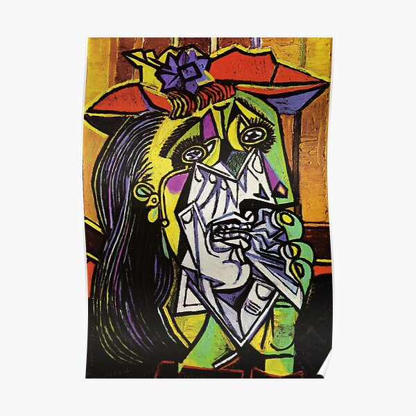 Pablo Picasso Original Fine Art The Weeping Woman Painting HD High Quality Online Store Poster