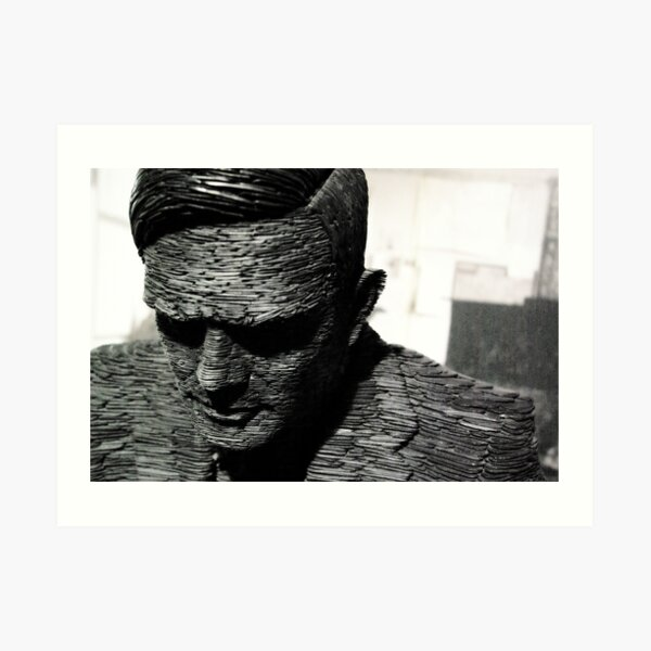 Alan Turing, Bletchley Park Art Print