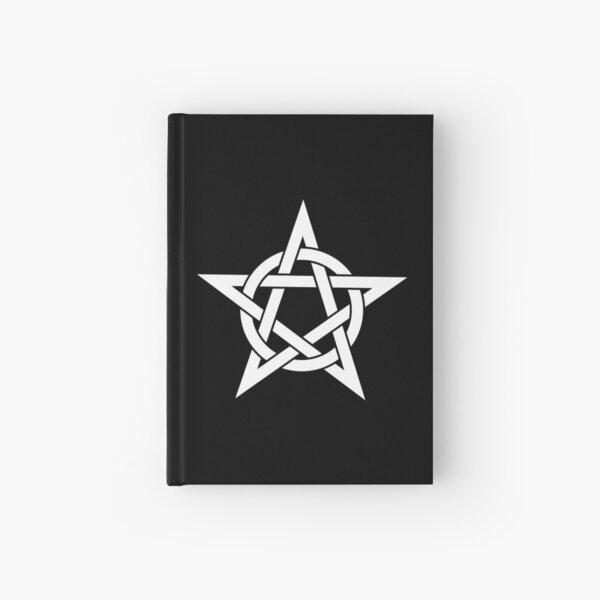 Pentagram in Black and White  Hardcover Journal