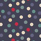 Blue grey polka dots by Morag Anderson